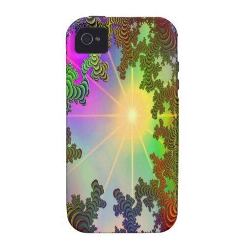 Rayos de Sun del árbol de los amigos junto Case-Mate iPhone 4 Carcasa