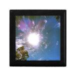 Rayos de Sun desde arriba Cajas De Regalo