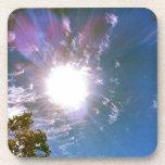 Rayos de Sun desde arriba Posavasos De Bebida