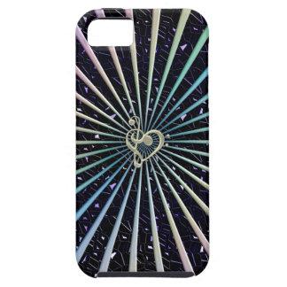 Rayos del arco iris en el cielo Jeweled con el iPhone 5 Carcasas
