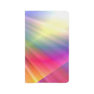 Rayos del arco iris funda para libreta y libreta grande moleskine