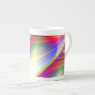 Rayos del arco iris taza de porcelana