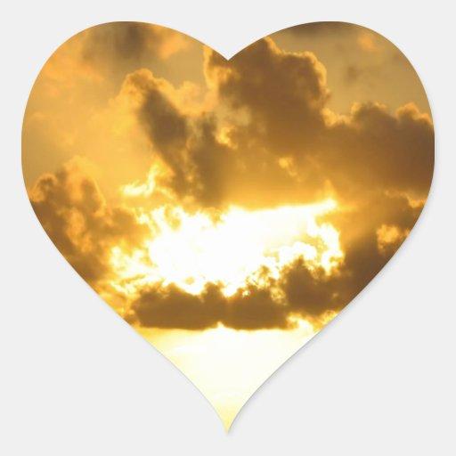Rayos del cielo tres pegatina corazon personalizadas