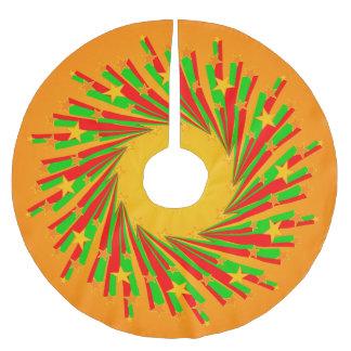 Rayos del círculo de la estrella I + su backgr. y Falda Para Arbol De Navidad De Poliéster
