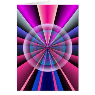 Rayos del color tarjeta de felicitación