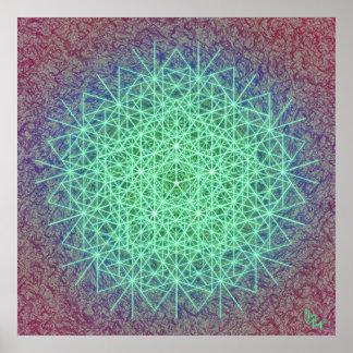 Rayos del fractal de 5 posters