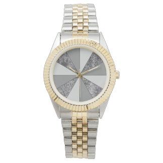 Rayos del granito gris y de los colores grises reloj de mano