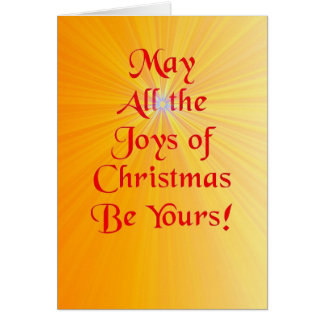 Rayos del navidad felicitación