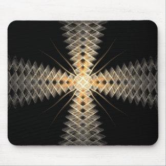 Rayos del zigzag del arte del fractal de la luz alfombrillas de ratones