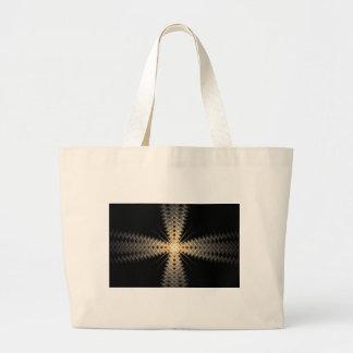 Rayos del zigzag del arte del fractal de la luz bolsa tela grande