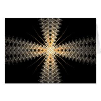 Rayos del zigzag del arte del fractal de la luz tarjeta de felicitación