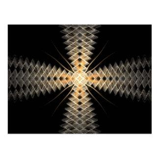 Rayos del zigzag del arte del fractal de la luz postal