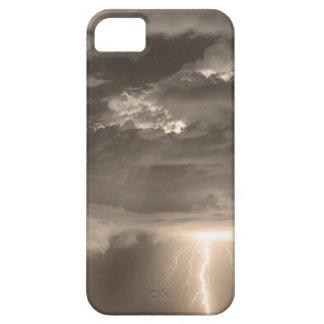 Rayos dobles en la sepia HDR iPhone 5 Carcasa