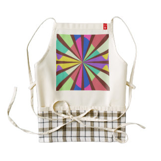 Rayos en colores retros delantal zazzle HEART