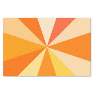 Rayos geométricos enrrollados modernos 60s del papel de seda pequeño