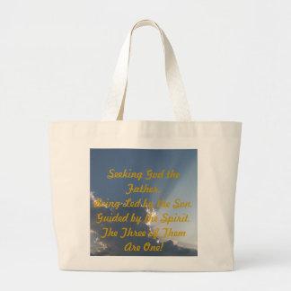 Rayos inspirados bolsa tela grande