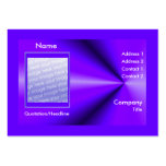 Rayos púrpuras - tamaño rechoncho (marco de la fot plantilla de tarjeta de visita