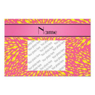 Rayos rosados conocidos personalizados impresiones fotográficas