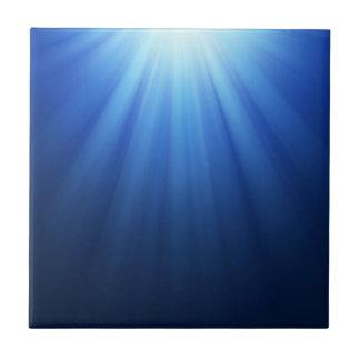 Rayos subacuáticos azules de Sun Azulejo Cuadrado Pequeño