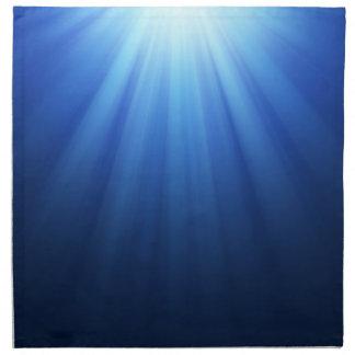 Rayos subacuáticos azules de Sun Servilletas Imprimidas