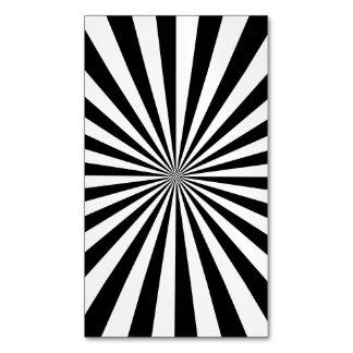 RAYOS (un diseño negro y blanco) ~.png Tarjetas De Visita Magnéticas (paquete De 25)