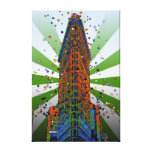 Rayos verdes y blancos del edificio de Flatiron - Impresiones En Lona