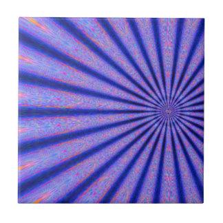 Rayos vibrantes del arte azul de Digitaces del col Azulejo Cuadrado Pequeño