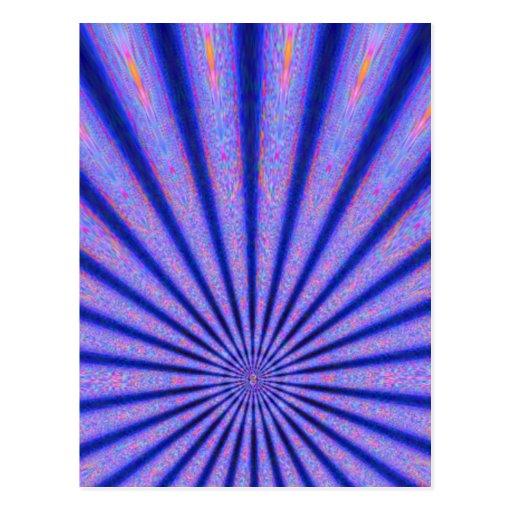Rayos vibrantes del arte azul de Digitaces del col Postal