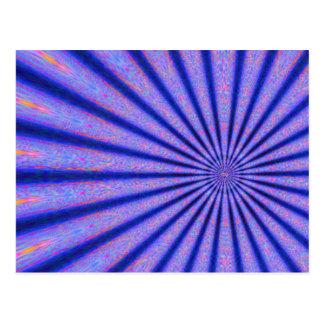 Rayos vibrantes del arte azul de Digitaces del col Tarjetas Postales
