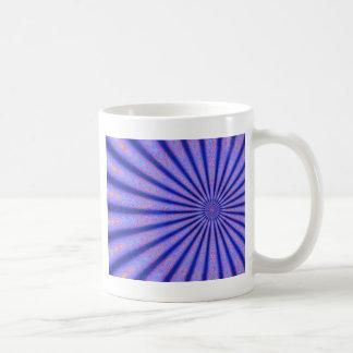 Rayos vibrantes del arte azul de Digitaces del Taza Clásica