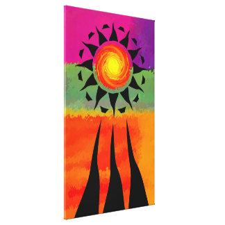 Rayos y elementos de Sun Impresiones En Lona