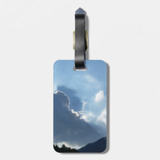 rays and clouds bag tag