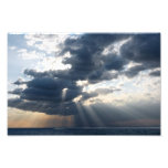 rays and clouds photo print