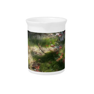 rays and leaves on water drink pitcher
