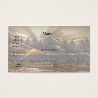 Rays at sunset Business Card