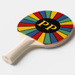 RAYS BUTTON I + your Photo, Text, Monogram Ping-Pong Paddle
