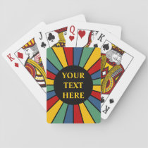 RAYS BUTTON I   your Photo, Text, Monogram Playing Cards