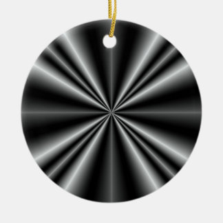 Rays Double-Sided Ceramic Round Christmas Ornament