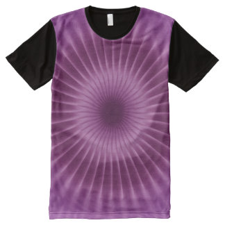 Rays Flower gradients - plum magenta + your ideas All-Over Print T-shirt