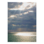 Rays from Heaven Over Ocean Print