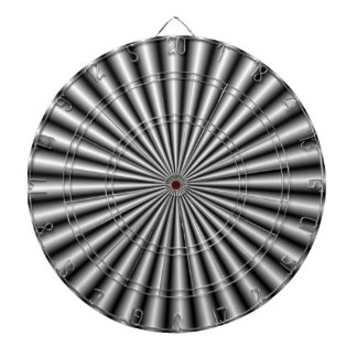 Rays in Black and White Dartboard With Darts