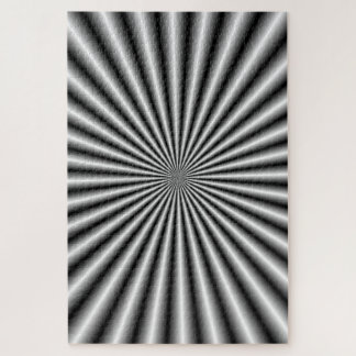 Rays in Black and White Jigsaw Puzzle