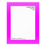 Rays - Magenta and White Letterhead