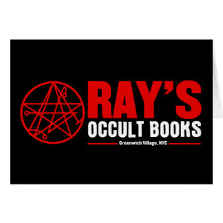 Ray's Occult Book Shop Card