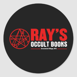 Ray's Occult Book Shop Classic Round Sticker