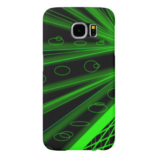 rays of emerald neon green lazers, loops, & grids samsung galaxy s6 cases