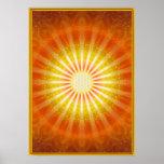 Rays of hope - gold framework - poster