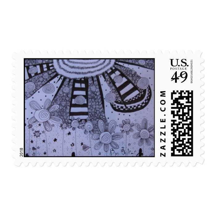 Rays of Hope Postage Stamp