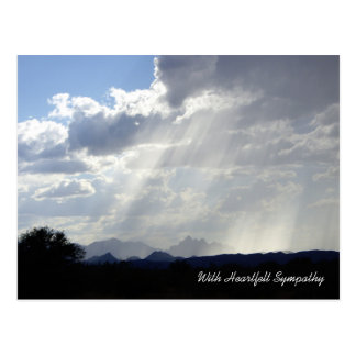 Rays of Hope Sympathy Post Card