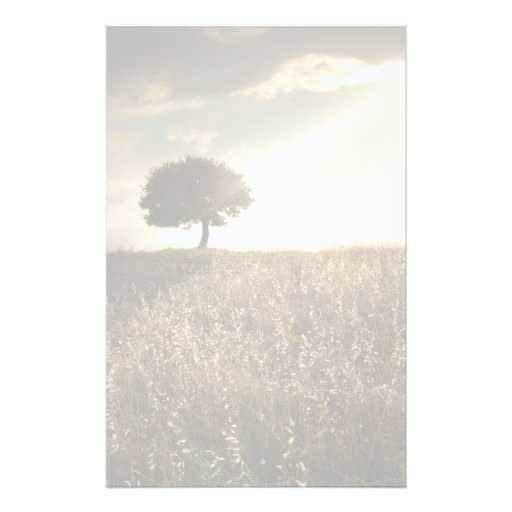 Rays of light break through the dramatic sky personalized stationery